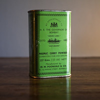 VIntage Madras Curry Powder Tin by TheOpSpot on Etsy