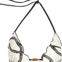Vix | Barbados printed triangle bikini top | NET-A-PORTER.COM