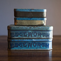 4 Vintage Edgeworth Smoking Tobacco Tin