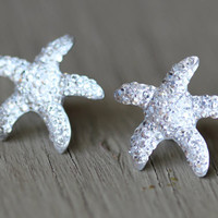 Starfish Studs  Crystal Starfish Stud Earrings by ArtisanTree