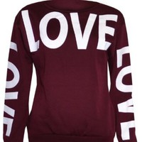 Womans Big Love Logo Sweater Sweatshirt Top