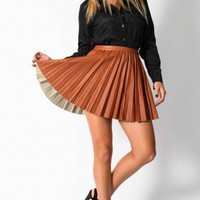 Fever skirt in tan  | Show Pony Fashion online shopping