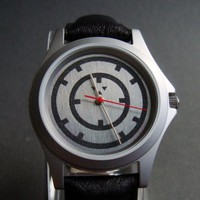 Wristwatch with handcrafted Dual Hour Rings Dial 1 in stainless steel | Cargoh