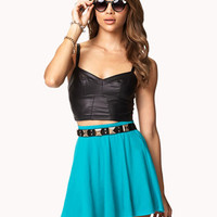 Basic Knit Skater Skirt