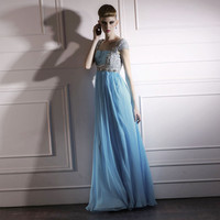 Blue Noble Polyester Floor Length Party Dresses