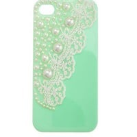 Pearls & Lace Phone Case: Charlotte Russe
