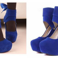 Detachable Ribbon High Heel