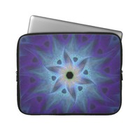 "Turquoise Flower Fractal 15"" Laptop Sleeve from Zazzle.com"