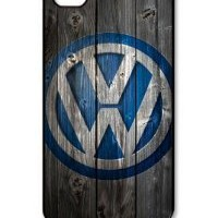 Amazon.com: Car Volkswagen Logo iPhone 4/4s Case Wood Look, Customized Hard Shell Protector Cover Case: Cell Phones & Accessories