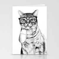 Mac Cat Stationery Cards | Print Shop