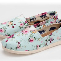 Women's Flora Flat Shoes Canvas Shoes
