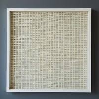 Handmade Paper Wall Art - White