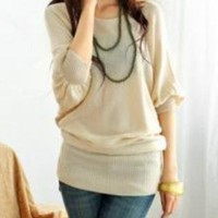 Beautiful Open Shoulder Sweater/Top in Off White