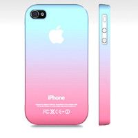 Pink & Blue Cotton Candy Ombre - Premium Slim Fit Iphone 4 or 4s Case