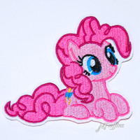 My Little Pony Pinkie Pie Iron On Embroidery Patch MTCoffinz