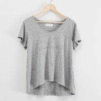 Dunan heather grey tee shirt by lechatclothing on Etsy