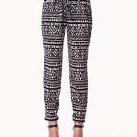 Tribal Print Satin Trousers