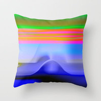 Blind with View 101 Throw Pillow by Gréta Thórsdóttir