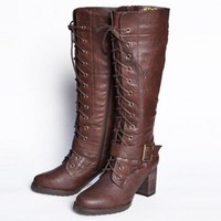 brookdale boots in dark brown