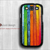 Samsung Galaxy S3 i9300 Case Samsung Galaxy SIII case unique Case colorized wood grain graphic design