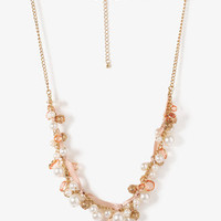 Pearlescent Bead & Charm Necklace | FOREVER 21 - 1000045408