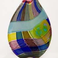 Osri Vase in Blue by Jeffrey Pan: Art Glass Vase - Artful Home