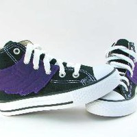 Superhero Shoes w/ Purple Wings