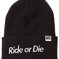 Married to the Mob The Ride or Die Beanie in Black : Karmaloop.com - Global Concrete Culture