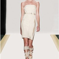 Herve Leger Andi Metal-Detail Bandage Dress - &amp;#36;215.00