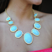 River Bottom Necklace: Teal/Gold | Hope's