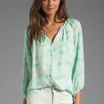 Shoshanna Renee Blouse in Mint