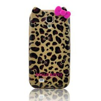 Amazon.com: I Need(TM) Stylish Cartoon Hello Kitty TPU Leopard & Bow Case Cover Compatible for Samsung Galaxy S4 SIV i9500(Yellow): Cell Phones & Accessories