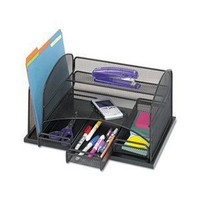 Safco Model Organizer with Three Drawers, Black Onyx (3252)