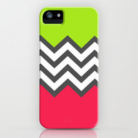 Color Blocked Chevron 5 iPhone & iPod Case by Josrick