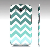 Tiffany Blue Chevron Fade - Premium Slim Fit Galaxy S3 Case