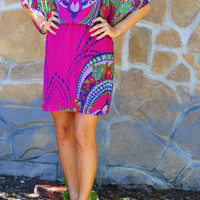 Late Bloomer Dress: African Violet/Multi | Hope's