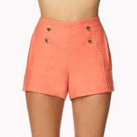 Linen-Blend Sailor Shorts