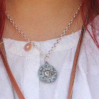 Sun and Moon Double sided  Zodiac necklace