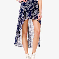 Paisley High-Low Skirt