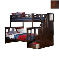 Atlantic Furniture Columbia Staircase Bunk Bed in Antique Walnut:Amazon:Furniture & Decor