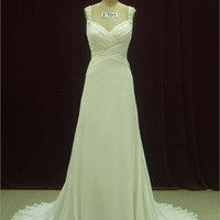 Sheath Spaghetti Straps Sweep Train Taffeta wedding dress WD2059