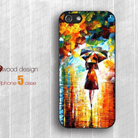 Rain day street  iphone 5 case rubber iphone 5 cases hard iphone 4 4s cover unique case design
