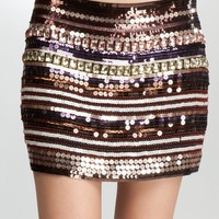 bebe Embellished Mini Skirt