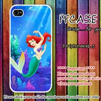 Little Mermaid Princess in the sea : Case For Iphone 4/4s ,5