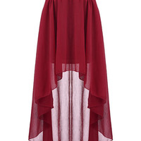 Anomalous Hem Red Skirt [NCSTD0036] - $25.00 :
