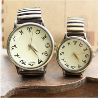Twelve Constellations Antique Quartz Watches for Couple - Watches - Accessories - Women Free Shipping