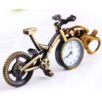 Vintage Bronze Colored Bicycle Look Pocket Watch - Watches - Accessories - Women Free Shipping