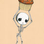 Cupcake Bounty Skeleton Print by NoosedKitty on Etsy