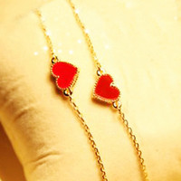 Double Face Red Heart Bracelet [AH0733] - $17.99 :