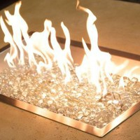 Do It Yourself Gas Fire Pit Kit (Rectangular Burner Bowl Only):Amazon:Home & Kitchen